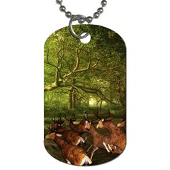 Red Deer Deer Roe Deer Antler Dog Tag (one Side)