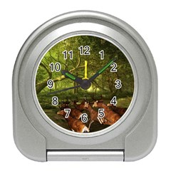 Red Deer Deer Roe Deer Antler Travel Alarm Clocks