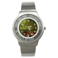 Red Deer Deer Roe Deer Antler Stainless Steel Watch