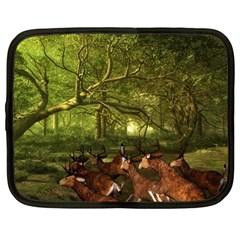 Red Deer Deer Roe Deer Antler Netbook Case (large)