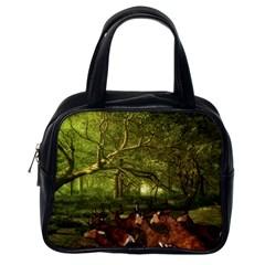 Red Deer Deer Roe Deer Antler Classic Handbags (one Side)