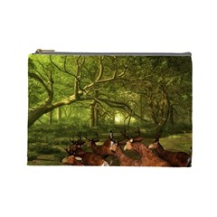 Red Deer Deer Roe Deer Antler Cosmetic Bag (large)