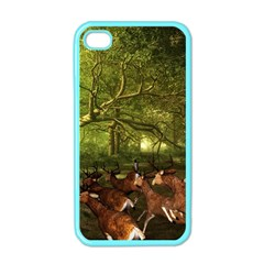 Red Deer Deer Roe Deer Antler Apple iPhone 4 Case (Color)