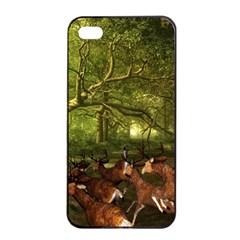 Red Deer Deer Roe Deer Antler Apple iPhone 4/4s Seamless Case (Black)