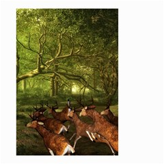 Red Deer Deer Roe Deer Antler Small Garden Flag (Two Sides)