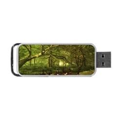 Red Deer Deer Roe Deer Antler Portable USB Flash (Two Sides)