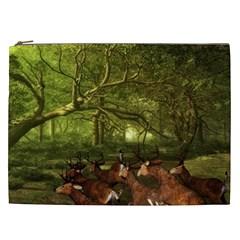 Red Deer Deer Roe Deer Antler Cosmetic Bag (XXL)