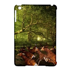Red Deer Deer Roe Deer Antler Apple iPad Mini Hardshell Case (Compatible with Smart Cover)