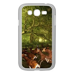 Red Deer Deer Roe Deer Antler Samsung Galaxy Grand DUOS I9082 Case (White)