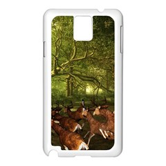 Red Deer Deer Roe Deer Antler Samsung Galaxy Note 3 N9005 Case (White)