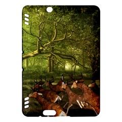 Red Deer Deer Roe Deer Antler Kindle Fire HDX Hardshell Case