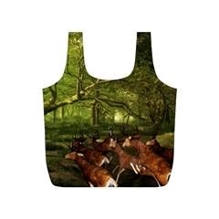 Red Deer Deer Roe Deer Antler Full Print Recycle Bags (S)