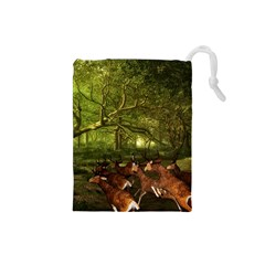 Red Deer Deer Roe Deer Antler Drawstring Pouches (Small)