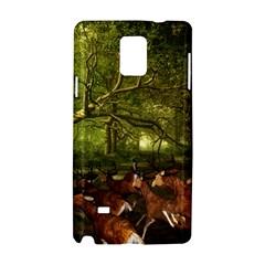 Red Deer Deer Roe Deer Antler Samsung Galaxy Note 4 Hardshell Case