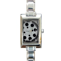 Turntable Record System Tones Rectangle Italian Charm Watch