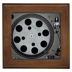 Turntable Record System Tones Framed Tiles