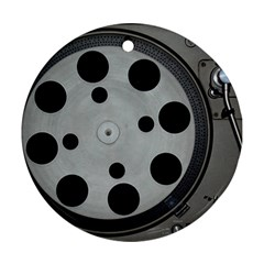 Turntable Record System Tones Ornament (round)