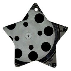 Turntable Record System Tones Ornament (Star)
