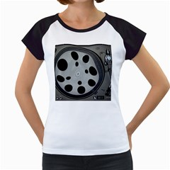 Turntable Record System Tones Women s Cap Sleeve T