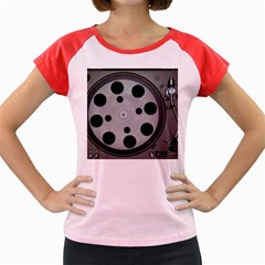 Turntable Record System Tones Women s Cap Sleeve T-Shirt