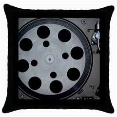 Turntable Record System Tones Throw Pillow Case (Black)