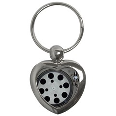 Turntable Record System Tones Key Chains (heart)