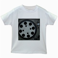 Turntable Record System Tones Kids White T-Shirts