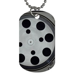 Turntable Record System Tones Dog Tag (One Side)