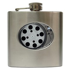 Turntable Record System Tones Hip Flask (6 Oz)