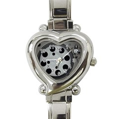 Turntable Record System Tones Heart Italian Charm Watch