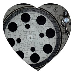 Turntable Record System Tones Jigsaw Puzzle (Heart)