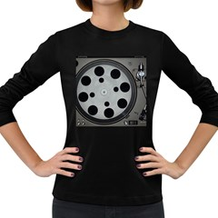 Turntable Record System Tones Women s Long Sleeve Dark T-Shirts