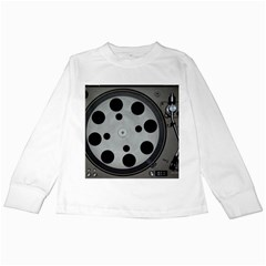 Turntable Record System Tones Kids Long Sleeve T-Shirts