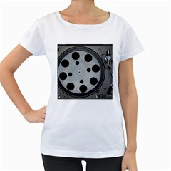 Turntable Record System Tones Women s Loose-Fit T-Shirt (White)