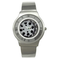 Turntable Record System Tones Stainless Steel Watch