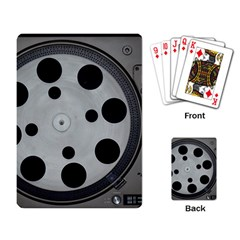 Turntable Record System Tones Playing Card