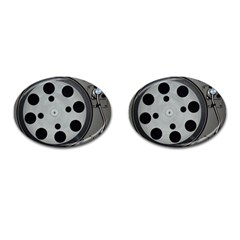 Turntable Record System Tones Cufflinks (oval)