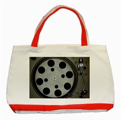 Turntable Record System Tones Classic Tote Bag (Red)