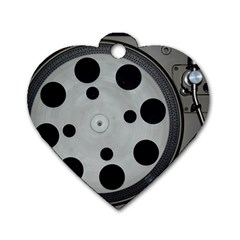 Turntable Record System Tones Dog Tag Heart (One Side)