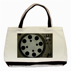 Turntable Record System Tones Basic Tote Bag (Two Sides)