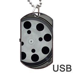 Turntable Record System Tones Dog Tag USB Flash (Two Sides)