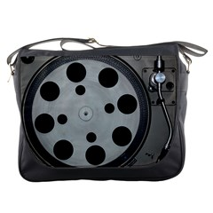 Turntable Record System Tones Messenger Bags