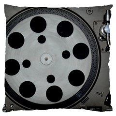 Turntable Record System Tones Large Cushion Case (Two Sides)