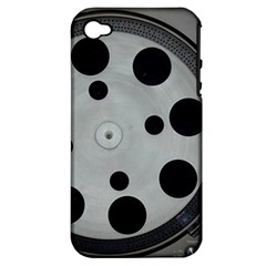 Turntable Record System Tones Apple iPhone 4/4S Hardshell Case (PC+Silicone)
