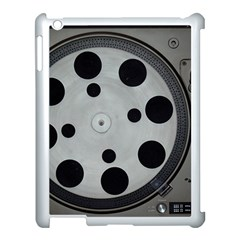 Turntable Record System Tones Apple iPad 3/4 Case (White)