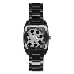 Turntable Record System Tones Stainless Steel Barrel Watch