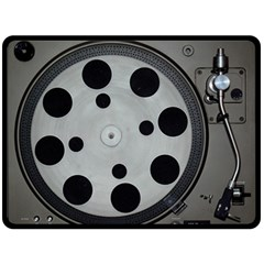Turntable Record System Tones Double Sided Fleece Blanket (Large)