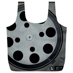 Turntable Record System Tones Full Print Recycle Bags (L)