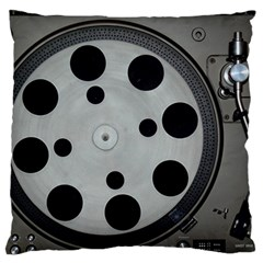 Turntable Record System Tones Large Flano Cushion Case (one Side)