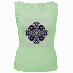 Mandala Purple Mandalas Balance Women s Green Tank Top